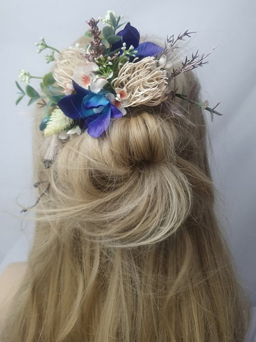 Blue Tropics with Natives Hair Comb