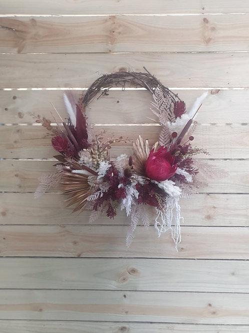 Burgundy Rustic Native Wreath