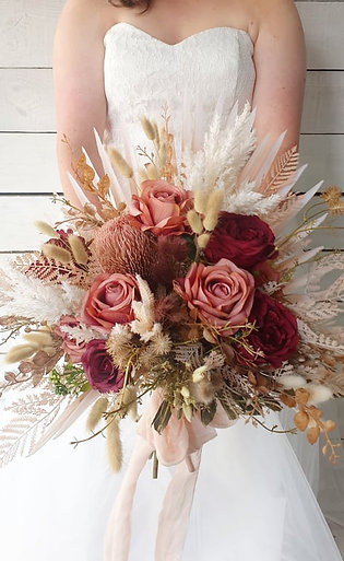 Native Mix Sweet Rose Bridal Bouquet