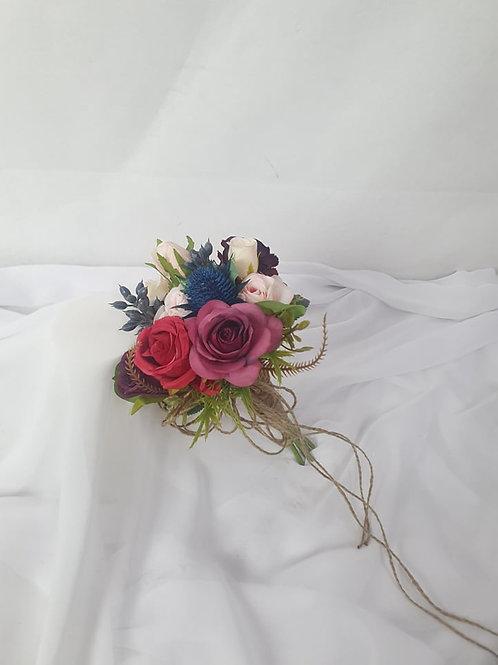 Ruby Blue Flower Girl Bouquet