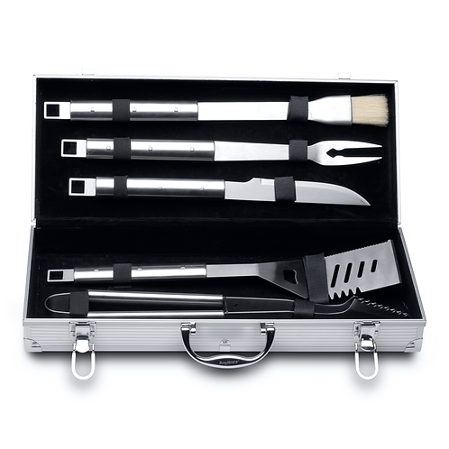 BERGHOFF ESSENTIALS 6-DELIGE BARBECUESET IN ALUMINIUM