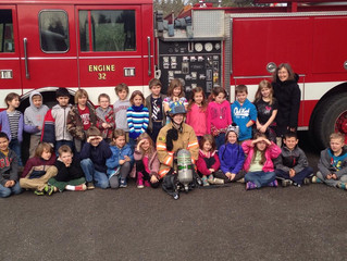1st Graders Get Fire Dept. Tour