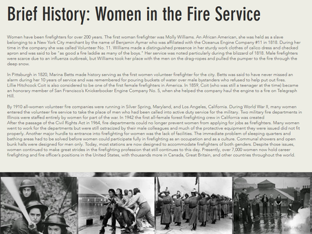 Brief History: Women in the Fire Service