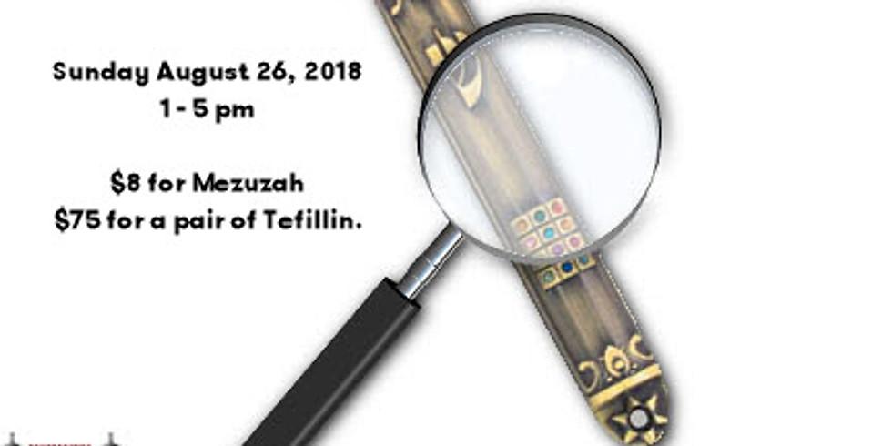 Mezuzah and Tefillin Check