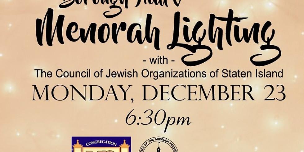 Borough Hall Menorah Lighting