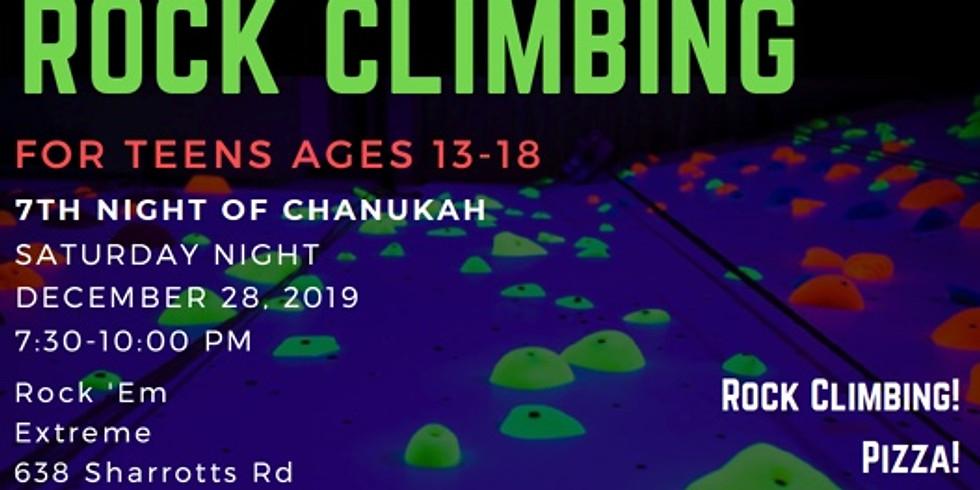 Chanukah Rock Climbing for Teens