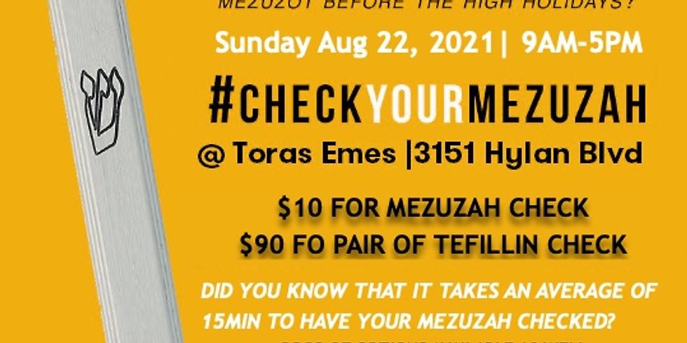 Mezuzah & Tefillin Check
