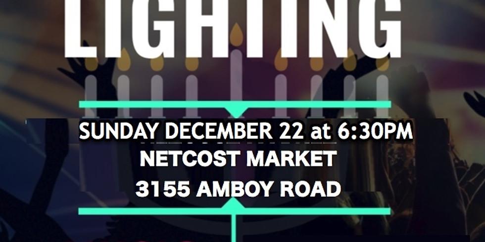 Netcost Menorah Lighting