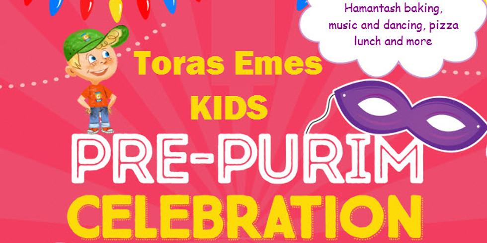 Kids Pre-Purim Event