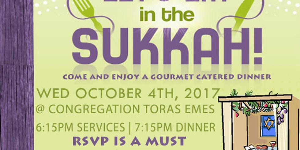 Dinner in the Sukkah