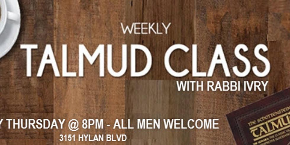 Men's Weekly Talmud Class