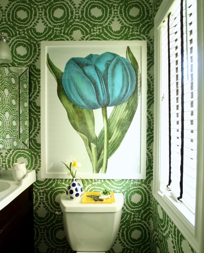 Spring green bathroom