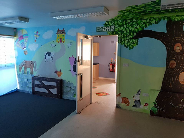 South Lodge as a creche before the work starts