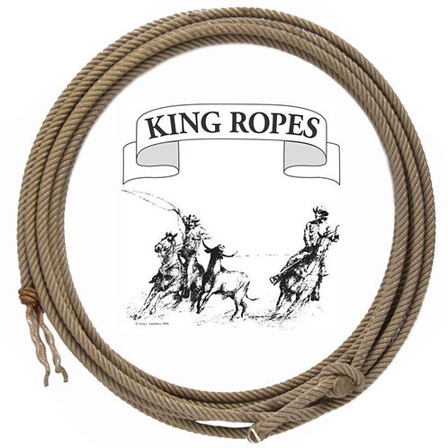 King Poly and Nylon Ranch Ropes with Folded Rawhide Hondo