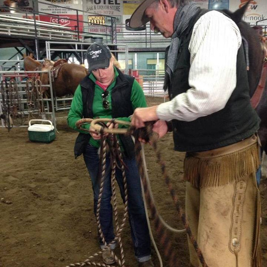 Teaching how to tie a Hackamore