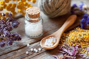 Láhve homeopatie globule