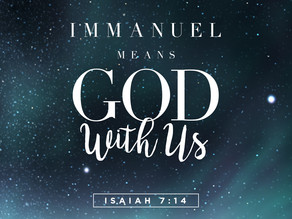 God WITH Us - Advent 2020