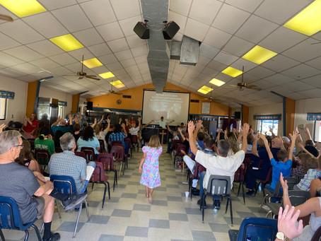Filling the tabernacle on Resurrection Sunday!