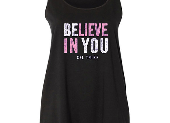 Believe In You - Curvy Tank - Black