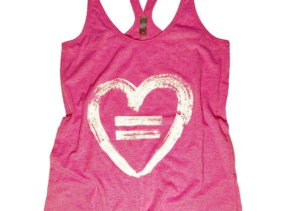 Equality Heart-Fuchsia Frost-Tank