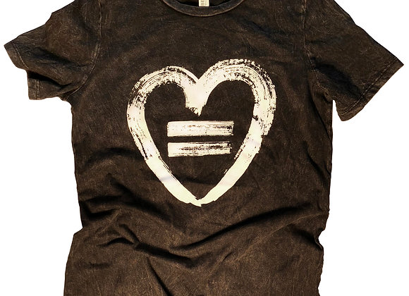 Equality Heart-Crew-Vintage Black