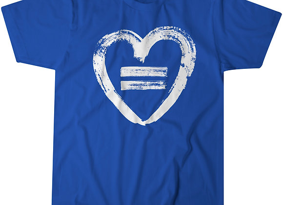 Equality Heart - Royal Blue T-Shirt