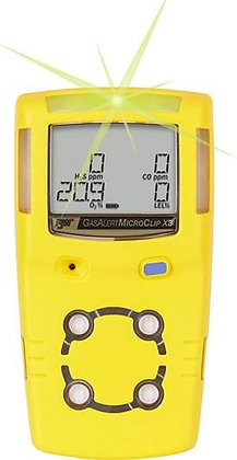 GasAlert MicroClip XL, O2 / H2S / CO