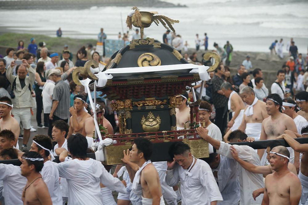 上総十二社祭り 釣ヶ崎海岸