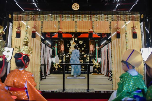 平成29年 稚児行列祈祷風景