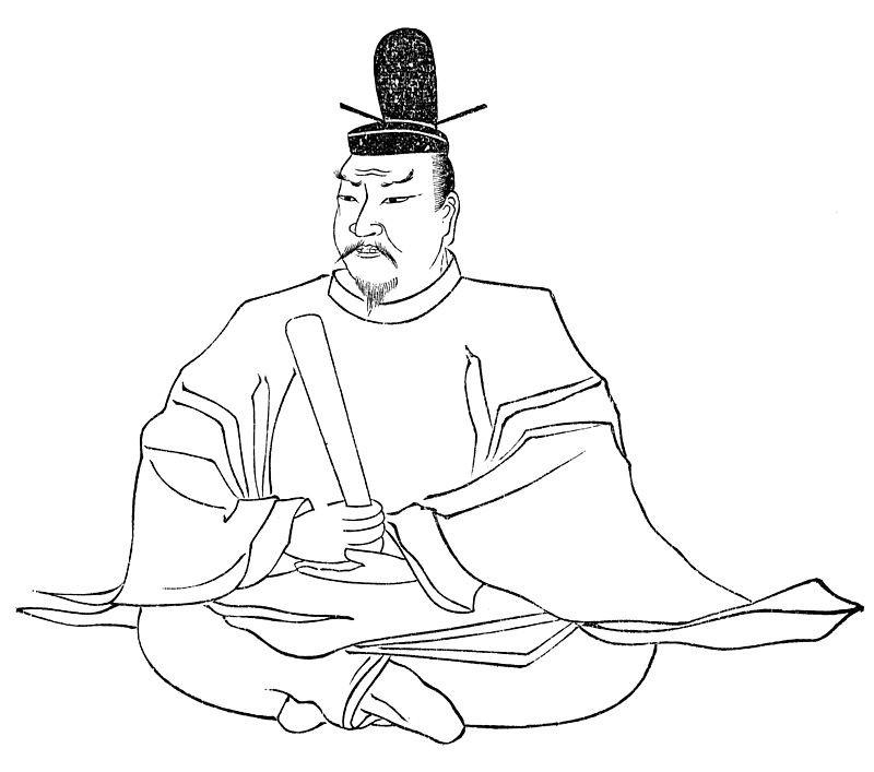 天武帝御影(大和国矢田山金剛寺蔵)、天武天皇像