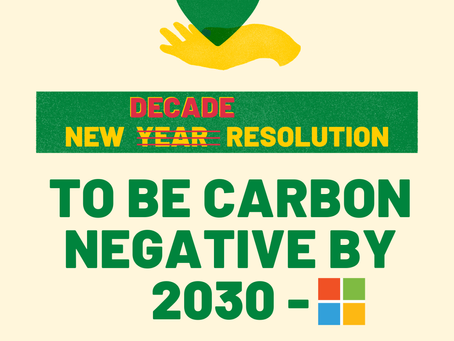 #2030Goals: To be Carbon Negative by 2030?