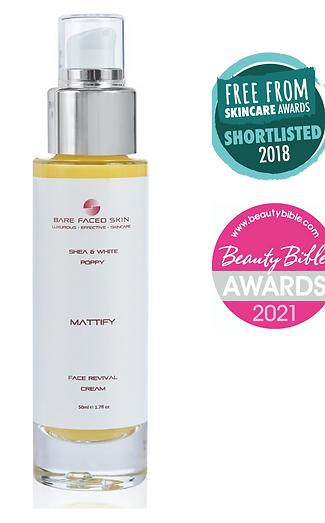 Face Revival Cream - Mattify - Shea & White Poppy - Oily Skin