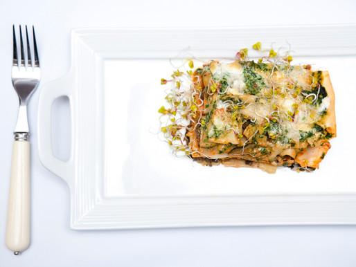 Oryginalna Lasagne, z marchewką, pieczarkami, mięsem, cukinią....