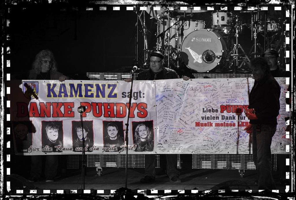 """""""Danke"""" Banner in Freiberg"""