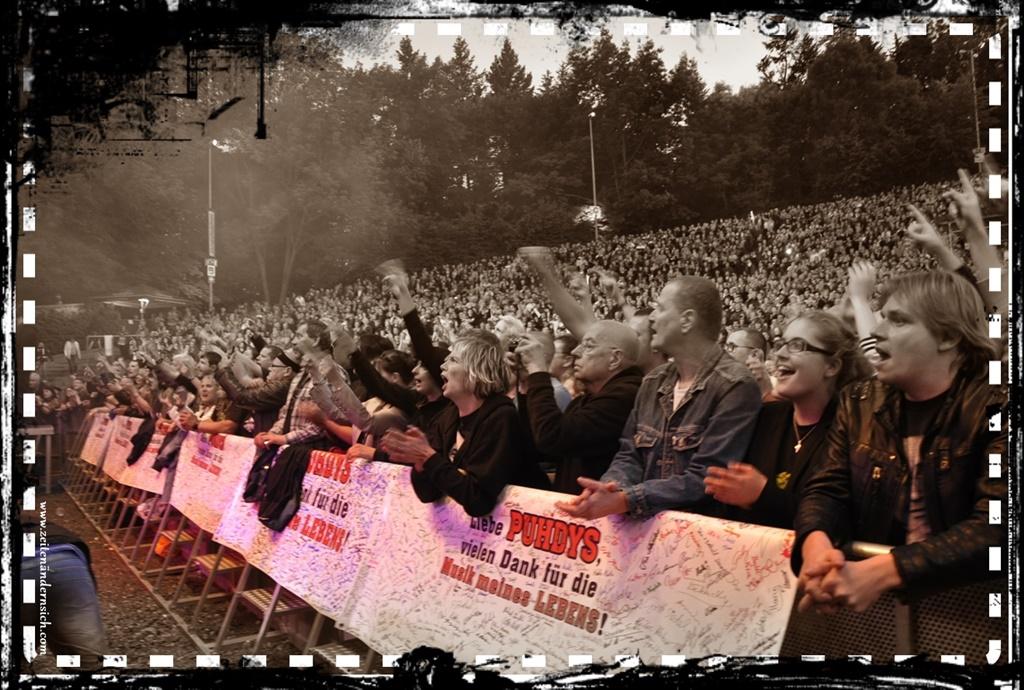 """Danke"" Banner in Kamenz"