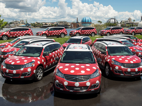 Minnie Vans arrive at Orlando Airport