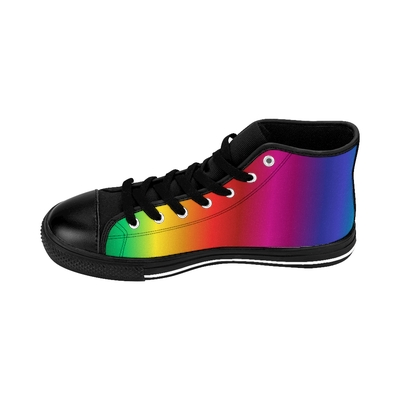 Creeper Rainbow Hightops Inside View