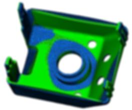 Moldflow warp shape