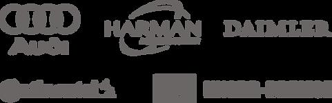 Referencia logók, AUDI, HARMAN, DAIMLER, Knorr-Bremse, Continental