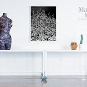 busto nero & sans titre collage & collage on canvas