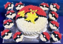 Pikachu on Pokeball