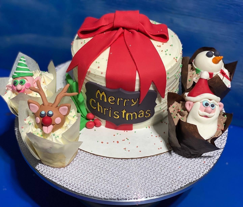 Christmas Cake & Cupcakes