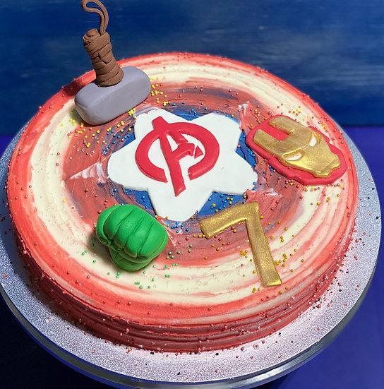 Avengers Shield Cake