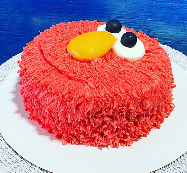 Elmo One Layer Face Cake