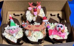Cat Dog Festive Cupcakes