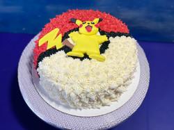Pikachu on the Pokeball