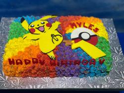 Pikachu Pokeball Swirl Cake