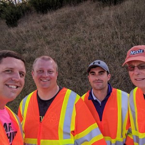 Working to clean up the roads in the Valley