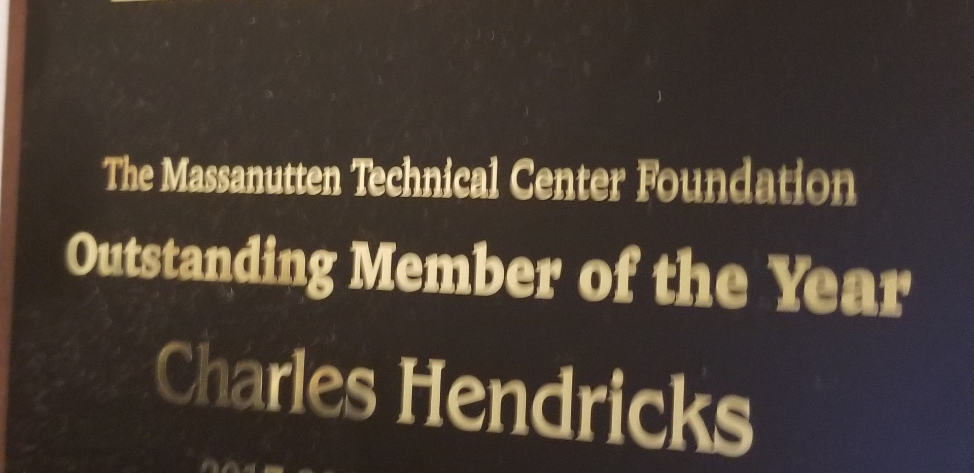 MTC Foundation Oustanding Member of the Year
