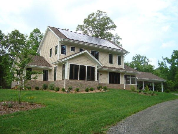 Net-zero energy house Charles designed in 2005